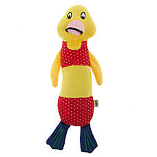 ED Ellen DeGeneres Pool Party Duck Dog Toy - Plush, Squeaker