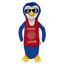 ED Ellen DeGeneres Pool Party Penguin Flattie Dog Toy - Crinkle