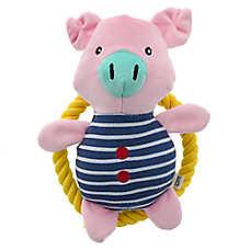 ED Ellen DeGeneres Pool Party Pig Dog Toy - Plush, Rope