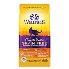 Wellness® Complete Health Indoor Cat Food - Natural, Grain Free, Deboned Chicken & Chicken Meal