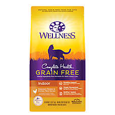 Wellness® Complete Health Indoor Cat Food - Natural, Grain Free, Deboned Chicken & Chicken Meal