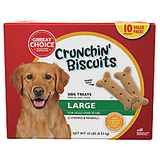 Grreat Choice® Crunchin' Biscuits Large Dog Treats