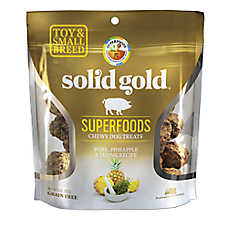 Solid Gold Superfoods Toy & Small Breed Chewy Dog Treats - Grain Free