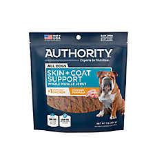 Authority® Skin & Coat Support Jerky Dog Treat - Grain Free, Gluten Free