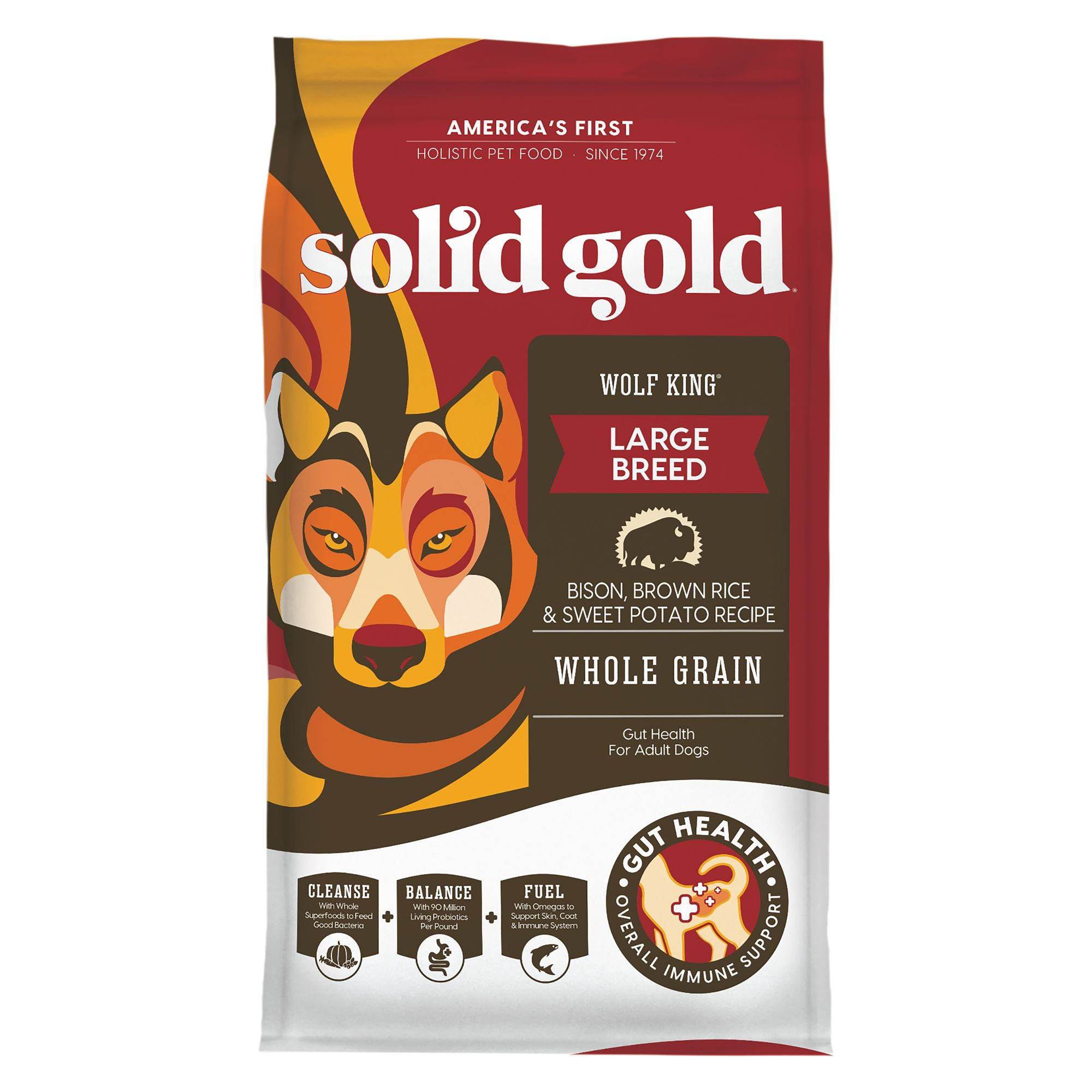 Solid Gold Wolf King Medium Large Breed Adult Dog Food Bison Brown Rice Sweet Potato Dog Dry Food Petsmart