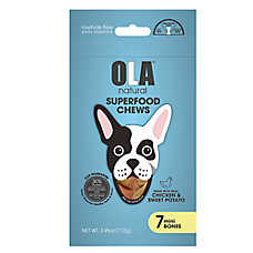 OLA ™ Natural Superfood Chews Mini Bones Dog Treats - Chicken & Sweet Potato