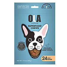 OLA ™ Natural Superfood Chews Mini Bones Dog Treats - Chicken & Sweet Potato