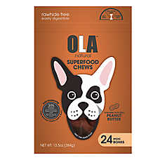 OLA ™ Natural Superfood Chews Mini Bone Dog Treats - Peanut Butter