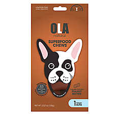 OLA ™ Natural Superfood Chews Large Bone Dog Treats - Peanut Butter