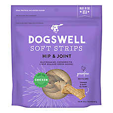 DOGSWELL® Hip & Joint Soft Strips Dog Treat - Chicken, Grain Free
