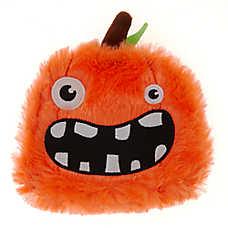 Thrills & Chills™ Halloween Goofy Pumpkin Flattie Dog Toy - Crinkle