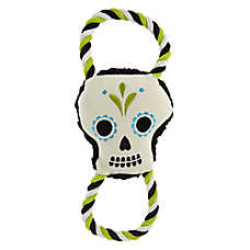 Thrills & Chills™ Day of the Dead Dog Toy - Plush, Rope