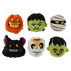 Thrills & Chills™ Halloween Scary Head Dog Toys - 6 Pack