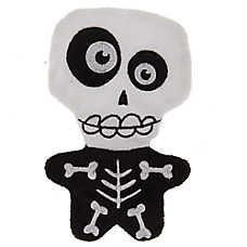 Thrills & Chills™ Halloween Skeleton Flattie Dog Toy - Crinkle