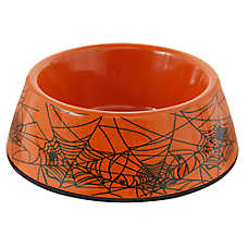 Top Paw® Halloween Spider Web Dog Bowl