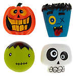 Thrills & Chills™ Halloween Spooky Head Dog Toys - 4 Pack