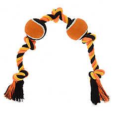 Thrills & Chills™ Halloween Knotted Rope & Tennis Balls Dog Toy
