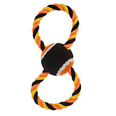 Thrills & Chills™ Halloween Rope & Tennis Ball Dog Toy