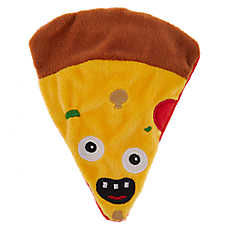Thrills & Chills™ Halloween Scary Pizza Flattie Dog Toy - Crinkle
