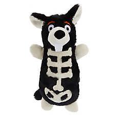 Thrills & Chills™ Halloween Skeleton Rat Bottle Crunch Dog Toy - Plush, Squeaker