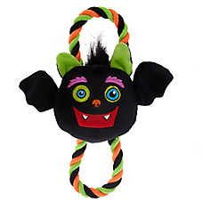 Thrills & Chills™ Halloween Bat Rope Dog Toy - Plush, Squeaker