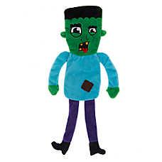 Thrills & Chills™ Halloween Zombie Flattie Dog Toy - Crinkle
