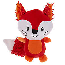 Grreat Choice® Noodle Fox Dog Toy - Plush, Squeaker