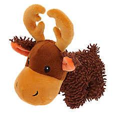 Grreat Choice® Noodle Moose Dog Toy - Plush, Squeaker
