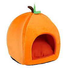 Thrills & Chills™ Halloween Pumpkin Pet Hut Bed