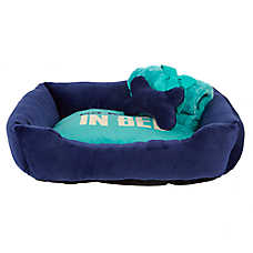 "Grreat Choice® ""Namaste in Bed"" Cuddler Pet Bed Gift Set"