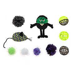 Thrills & Chills™ Halloween Frankenstein Cat Toys - 10 Pack