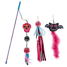 Thrills & Chills™ Day of the Dead Teaser Cat Toy - 3 Pack
