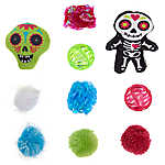 Thrills & Chills™ Halloween Day of the Dead Cat Toys - 10 Pack