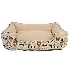 Top Paw® Dog & Bones Cuddler Pet Bed