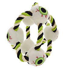 Thrills & Chills™ Halloween Eyeballs Rope Dog Toy
