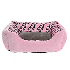 Grreat Choice® Paw Stripe Cuddler Pet Bed