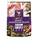 BILLY + MARGOT® Adult Dog Food - Wild Board & Superfood Blend, Natural, Grain Free, High Protein