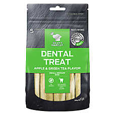 BILLY + MARGOT Dental Treat - Grain Free, Apple & Green Tea, 5 ct