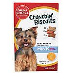 Grreat Choice® Chrunchin' Biscuits Mini Dog Treat - Multi-Flavor
