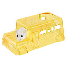 All Living Things® Tiny Tales™ School Bus Small Pet Hide