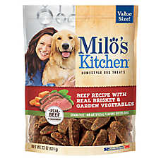 Milo's Kitchen Homestyle Dog Treats - Grain Free, Brisket & Garden Vegetables