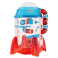 All Living Things® Tiny Tales™ Rocket Ship Small Pet Connectable Hamster Home