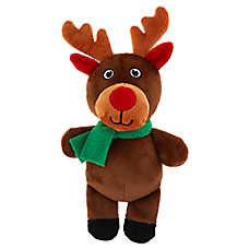 Merry & Bright™ Holiday Reindeer Dog Toy - Plush, Squeaker