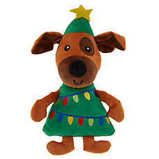 Merry & Bright™ Holiday Puppy Tree Dog Toy- Plush, Squeaker