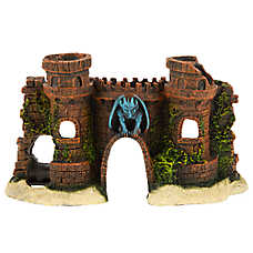 Top Fin® Gargoyle Castle Aquarium Ornament