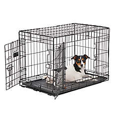 KONG® Dual-Door Rust-Resistant Dog Crate