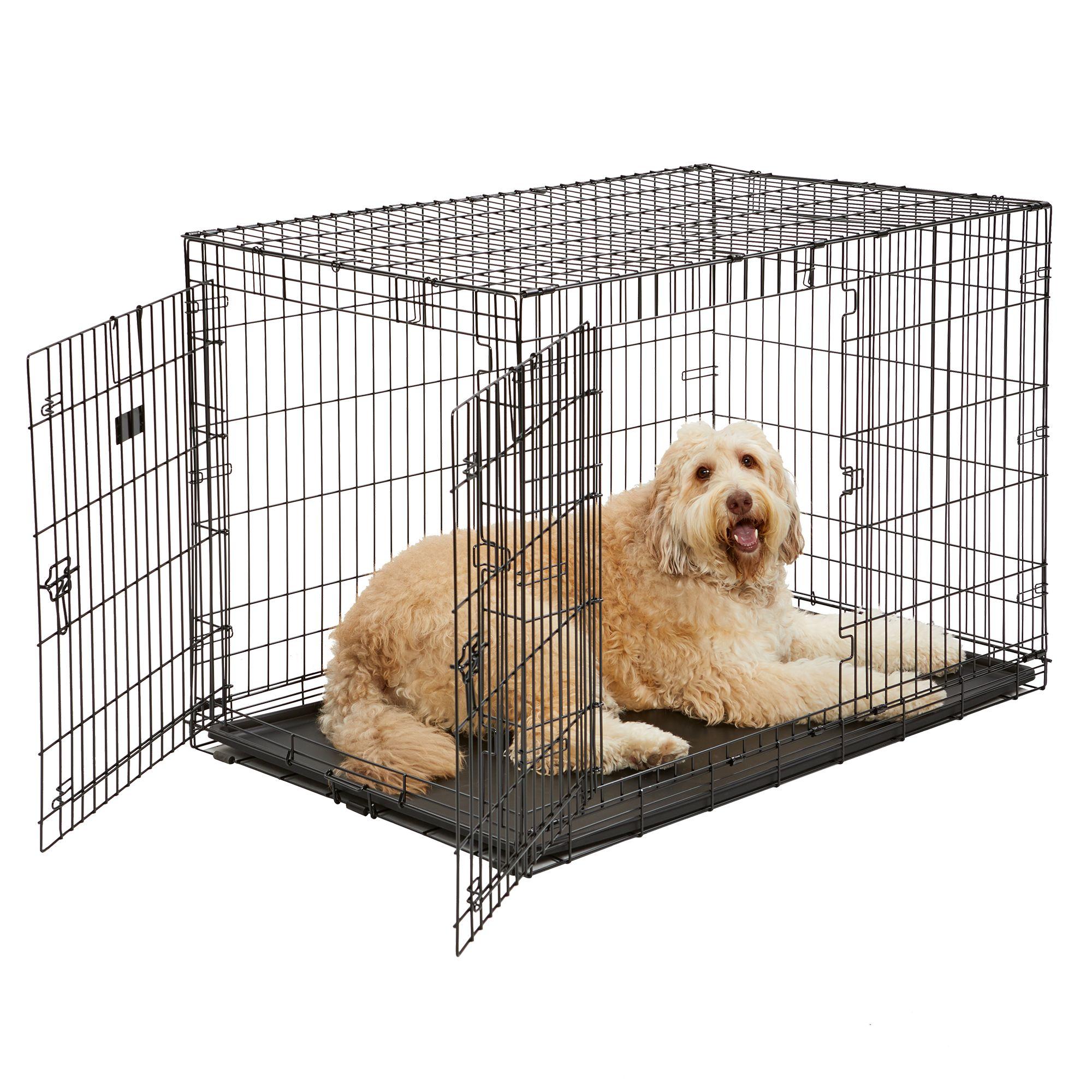 KONG® Dual-Door Rust-Resistant Dog Crate