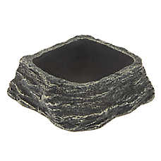 All Living Things® Corner Rock Reptile Bowl