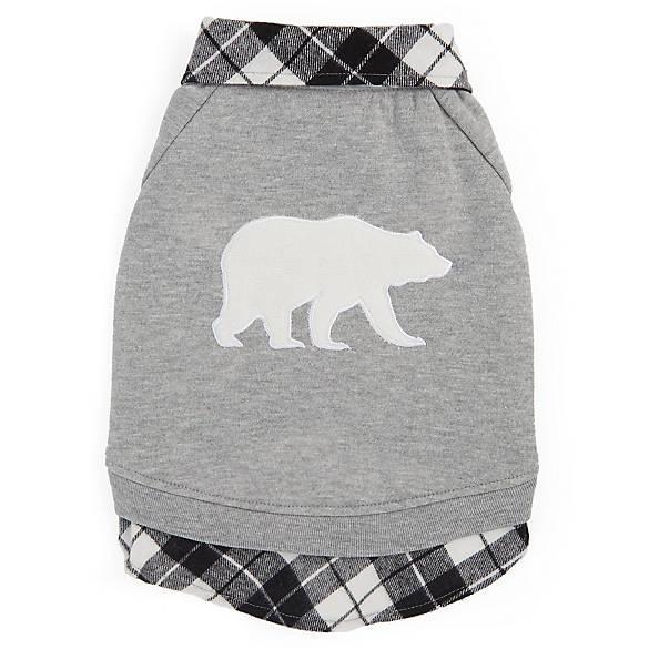 Top Paw Plaid Polar Bear Pet Sweatshirt Dog Sweaters Coats