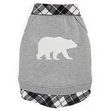 Top Paw® Plaid Polar Bear Pet Sweatshirt